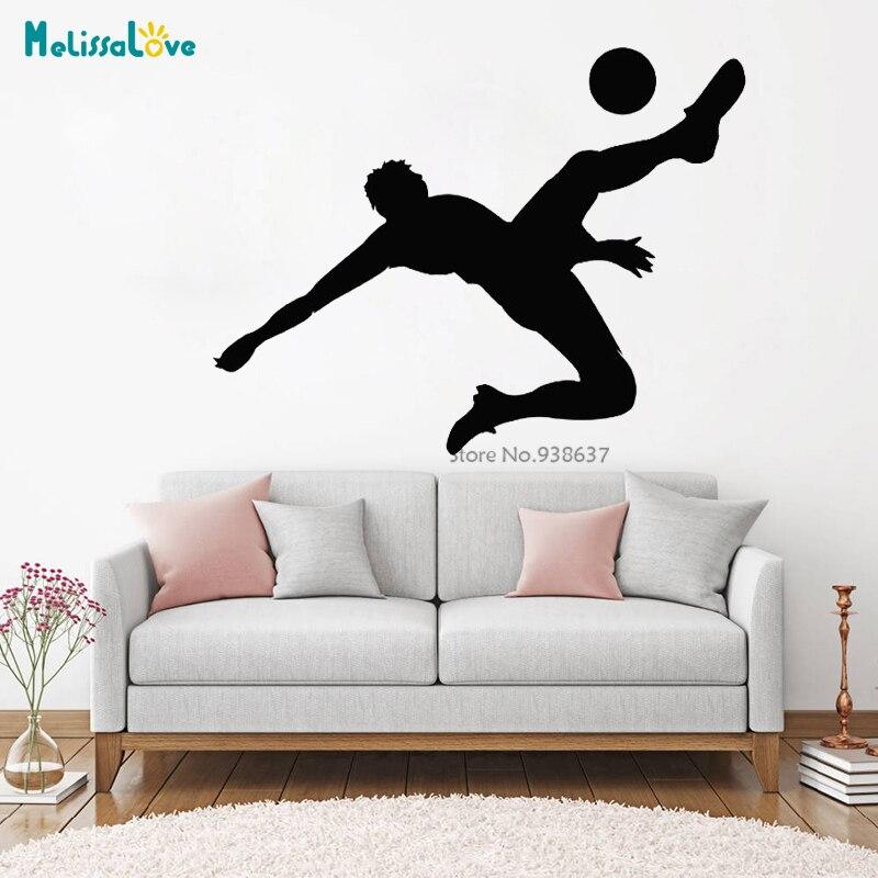 US $5.5 5% OFFWall Art Stickers Football Player Removable Vinyl Sport  Wall Decals Home Decor Teens Boy Room BA5Wall Stickers - AliExpress