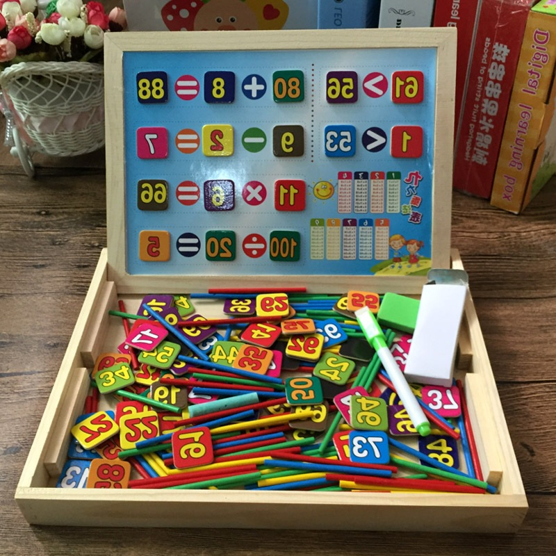 Children Magnetic Numbers Stick 1-100 Baby Double-Sided Sketchpad Writing Board Counting Sticks Learning Toy 3456-Year-Old