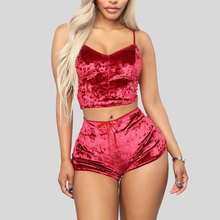 2020 Two Pieces Bra Sets Velvet Sexy Underwear Lingerie Sets Ladies Intimates Tops And Pants Sleepwear Babydoll Sets Clothing