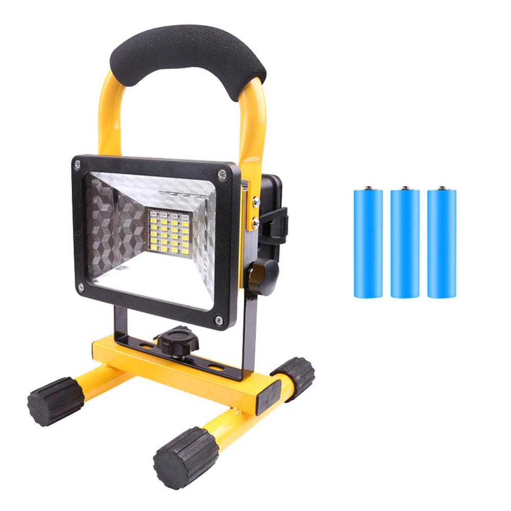Rechargeable LED Flood Light Waterproof IP65 Camping Lamp Outdoor Spotlight Floodlight Camping Light With Plug 5Lighting Modes