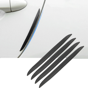 LEEPEE Car Door Edge Protector Scrape Guard Bumper Guards Protective Strip Rearview Mirror Protection Sticker Universal 4PCS/Set(China)