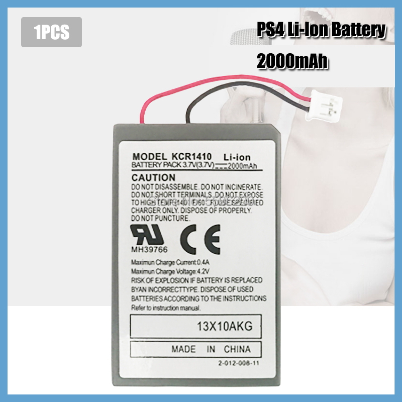 1 шт., 2000 мАч, аккумулятор, Замена для Sony геймпада PS4 Dualshock4 V1, беспроводной контроллер, батарея CUH-ZCT1E CUH-ZCT1U