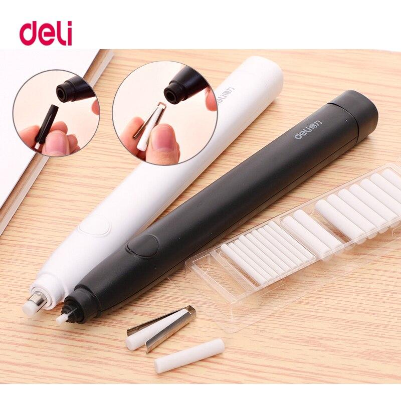 Deli lápis desenho mecânico borracha elétrica bonito amassados borrachas para crianças escola material de escritório borracha lápis recarga
