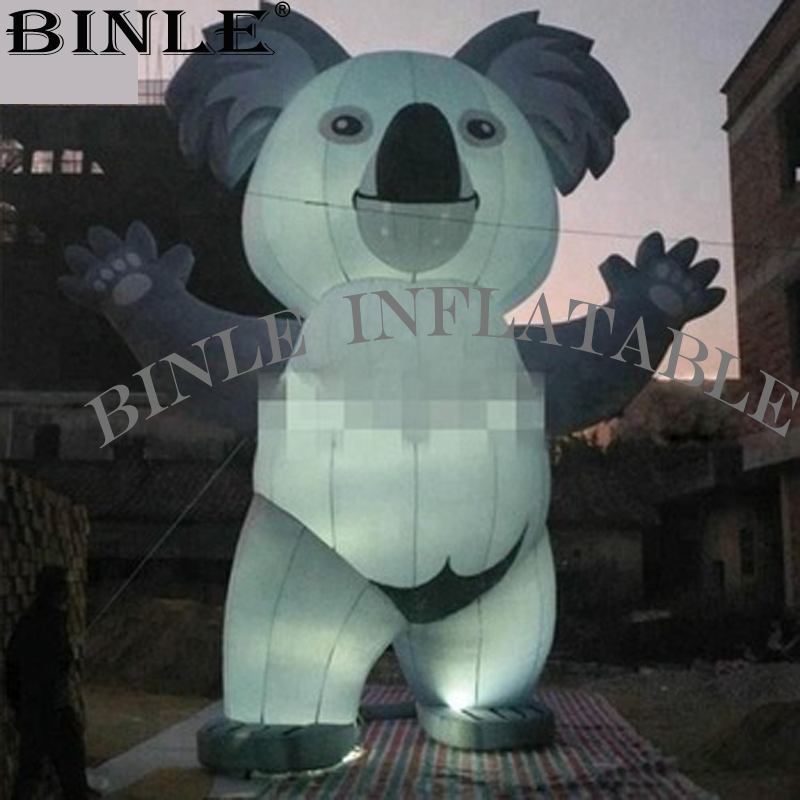 New Grey Giant Inflatable Koala With Led Lights For Company Events Decoration
