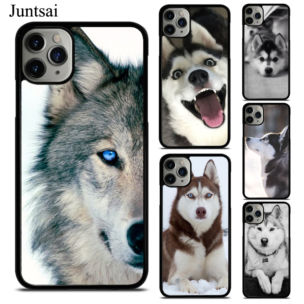 Juntsai <font><b>Siberian</b></font> <font><b>Husky</b></font> Dog Phone Case For iPhone XS 11Pro Max XR X 6 6S 7 8 Plus Case TPU Back Cover image