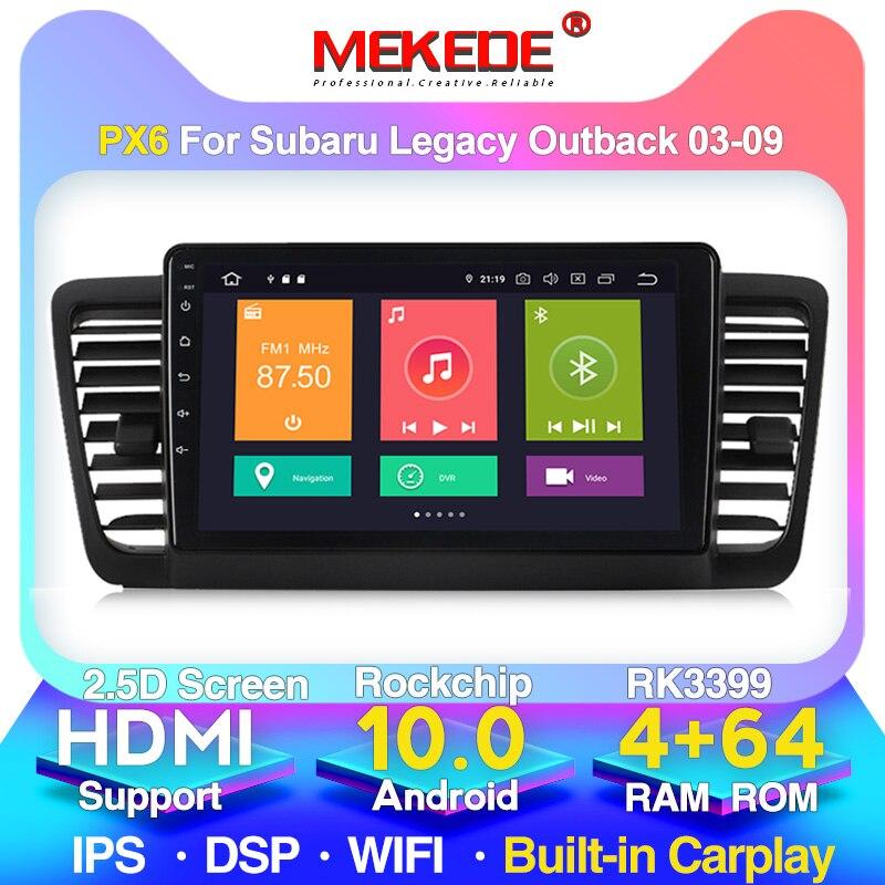 MEKEDE For Subaru Outback 3 Legacy 4 2003 - 2009 Car Radio Multimedia Video Player Navigation GPS Android 10 No 2din 2 Din Dvd