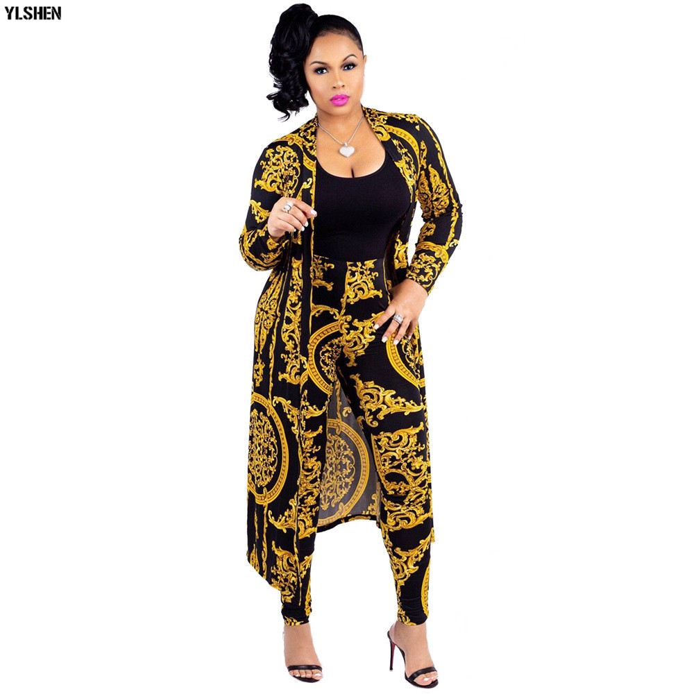 Two Piece Set Print African Dresses For Women Dashiki Plus Size Clothes Ankara Long Dress Suit Bazin Robe Africaine Femme 2019