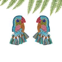 Bohemian Parrot Oorbellen Voor Vrouwen Handmade Crystal Dangle Earrings For Women Statement Wedding Bridal Tassel Earrings Gifts h2 hydrogen generator water electrolysis hydrogen and oxygen separation hydrogen water bottle cup 600ml usb line