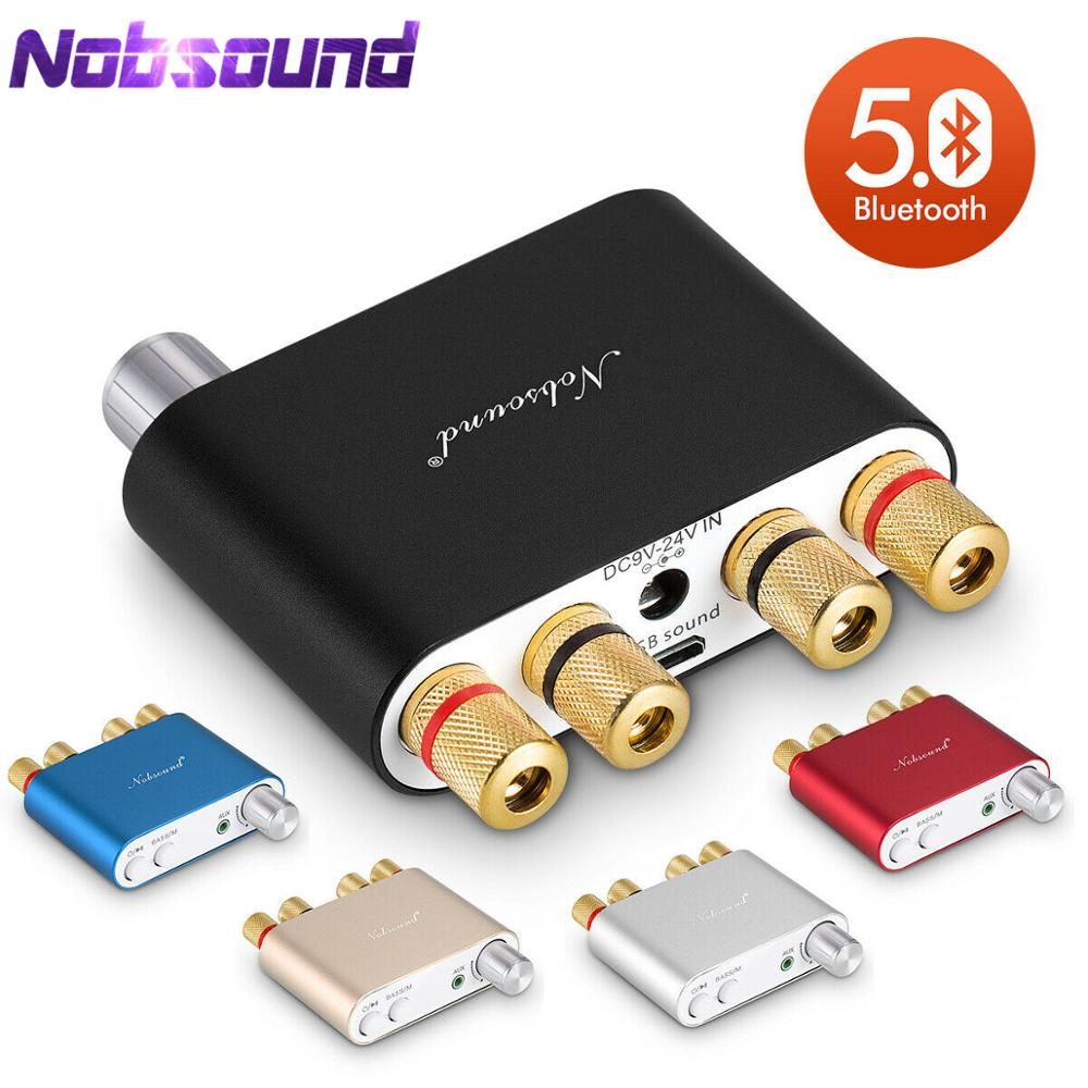 Nobsound NS-10G TPA3116 Bluetooth 5.0 Mini  50W*2 Digital Amplifier Stereo Hi-Fi Power Amlifier 5 Colors