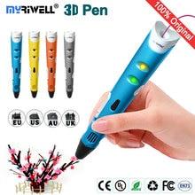 цена на myriwell 3d pen 3d pens,1.75mmABS/PLA Filament,3 d pen3d model,Creative 3d printer pen-3d magic pen,Best Gift for Kids