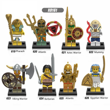 X0161 Single Sale Building Blocks Atlantis Pharaoh Mummy Barbarian Super Heroes Action Figure Bricks Children Toys Kids Gift DIY цена 2017