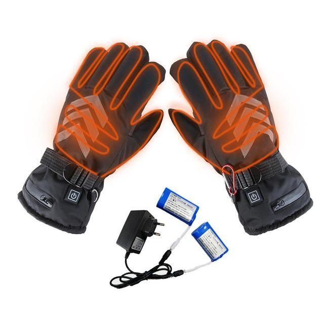 חורף יד חם חשמלי תרמית כפפות נטענת סוללה מחומם כפפות רכיבה על אופנוע אופניים סקי כפפות