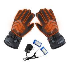 Kış el ısıtıcı elektrikli termal eldiven şarj edilebilir pil ısıtmalı eldiven bisiklet motosiklet bisiklet kayak eldivenleri