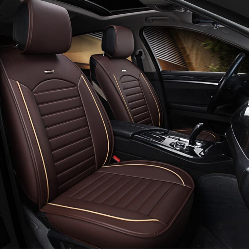 Deluxe Black PU Leather Front Seat Covers Cushion For Renault Clio Megane Captur