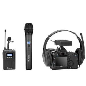 Image 4 - BOYA BY WHM8 Pro Handheld Mikrofon UHF Wireless Unidirektionale Dynamische Mic Sender für Bühne Film ENG BY WM8 Pro Empfänger