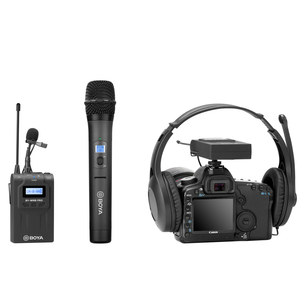 Image 4 - BOYA BY WHM8 Pro Microphone tenu dans la main UHF transmetteur de micro dynamique unidirectionnel sans fil pour récepteur de Film de scène ENG BY WM8 Pro