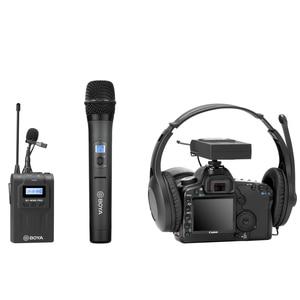Image 4 - BOYA BY WM8 Pro WHM8 Pro mikrofon pojemnościowy mikrofon bezprzewodowy System Audio rejestrator wideo odbiornik do aparatu Canon Nikon Sony