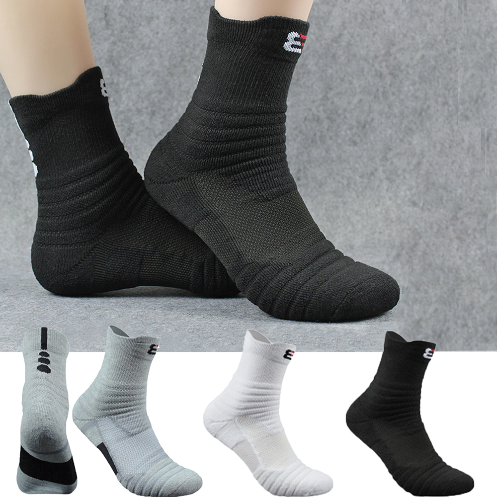 Men Outdoor Sports Socks Basketball Socks Men Casual Cycling Compression Socks Cotton Towel Bottom Men's socks High Quality