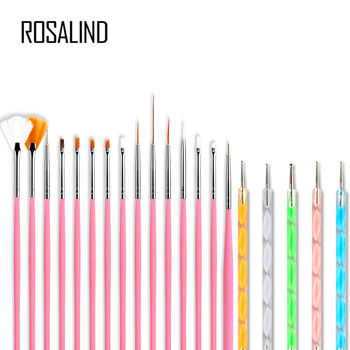 ROSALIND Gel polish nail Brush For Manicure tool Set 3D Pen Gel Acrylic Brushes Liner Nails Accessoires decoration Brushes