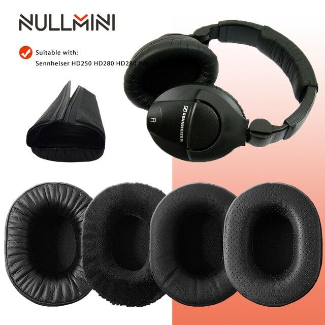 NullMini Replacement Earpads for Sennheiser HD280 HD280PRO HD281 Headphones Leather Sleeve Earphone Earmuff