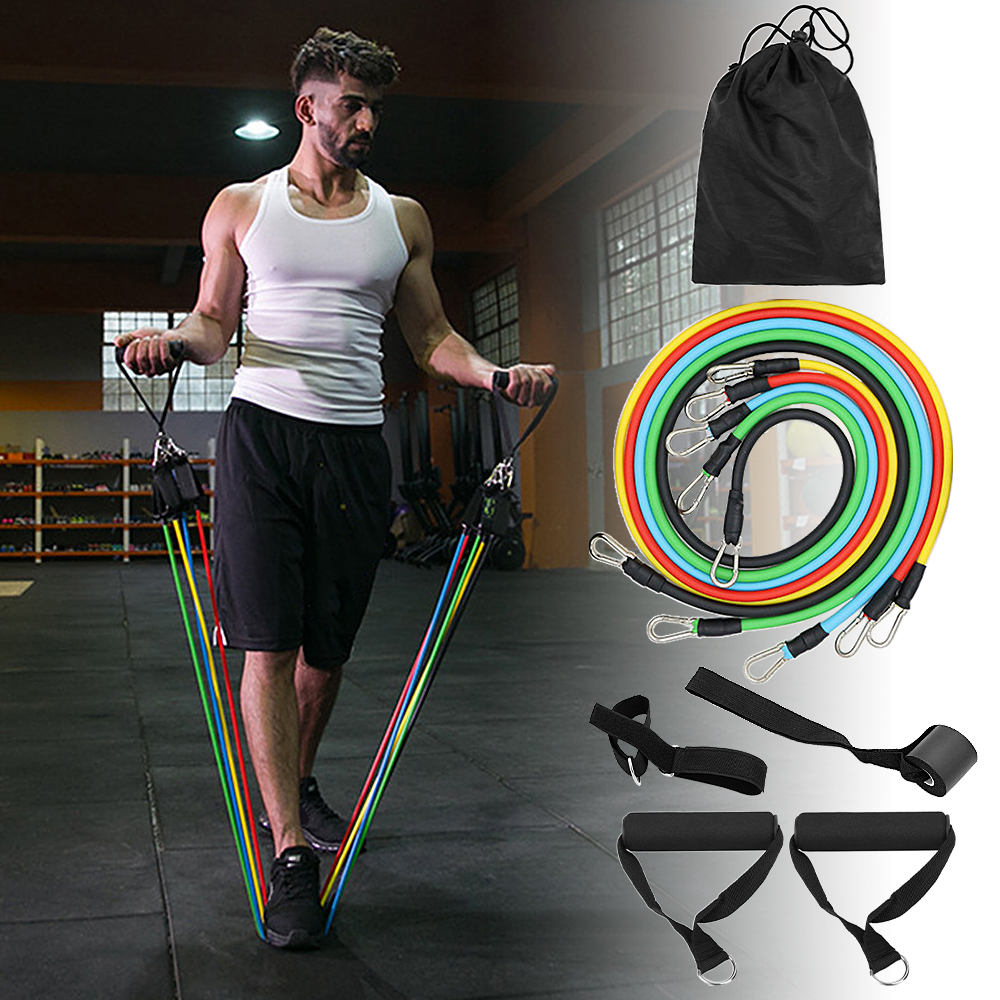 Resistance Bands Set Workout Gym Sport Home Exercise Tube Elastic Bands for Fitness Door Anchor Ankle Straps Fitness Equipment image