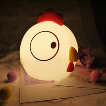 Silicon motion Rooster USB LED Night Light Child Gift Home Decoration Warm Sleep lamp Cute cock night lamp gift for baby