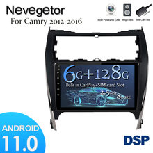 6G + 128G Android 11 DSP Für Toyota Camry 7 50 55 2012  2017 Auto Radio Multimedia video Player 2020 Navigation GPS 2 din
