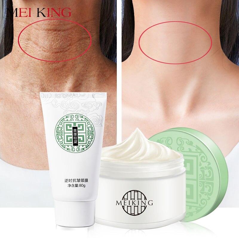 MEIKING Neck Mask Neck Cream Skin Care Anti wrinkle Whitening Moisturizing Nourishing Firming Neck Care Set Skin Care Set 80*80g