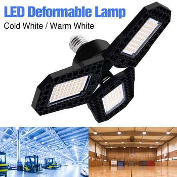 цена на UFO LED Lamp E27 LED Bulb 40W 60W 80W 100W High Bay Light 220V Garage Light LED Deformable Lamp Factory Industrial Lighting 110V