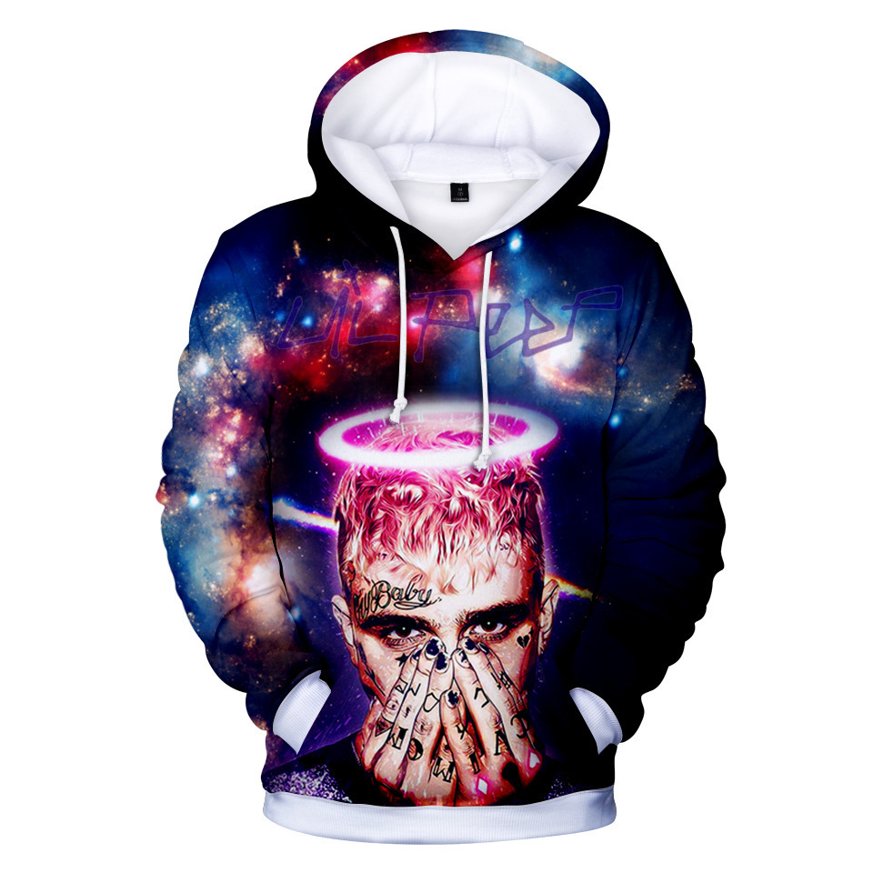 Rap Singer Lil Peep Plus Size Sweatshirt Hoodies Men And Women Streetwear Hoodies Oversized Hoodie Merchandise Fashion Clothing