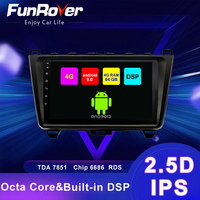 Funrover 4G+64G DSP Android 9.0 car multimedia Player radio gps Stereo For Mazda 6 2007 2012 2015 2 din 2.5D+IPS RDS WIFI no dvd