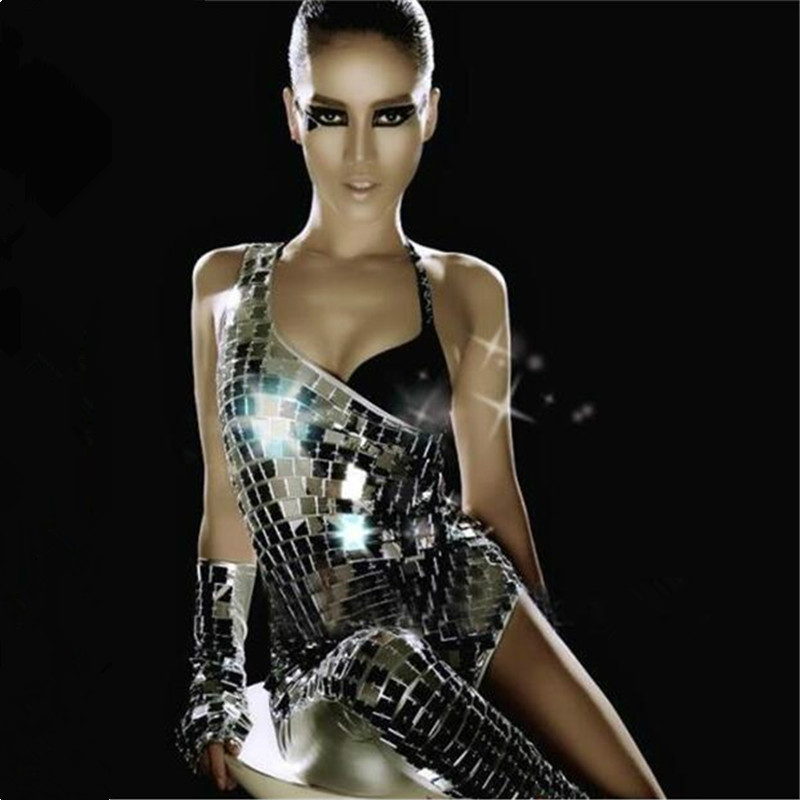 Sexy Mirrors Stage Bodysuit Dance Costumes Female DJ Nightclub Singer Dancer Bar Party Performance Costumes Luxury Sexy Jumpsuit