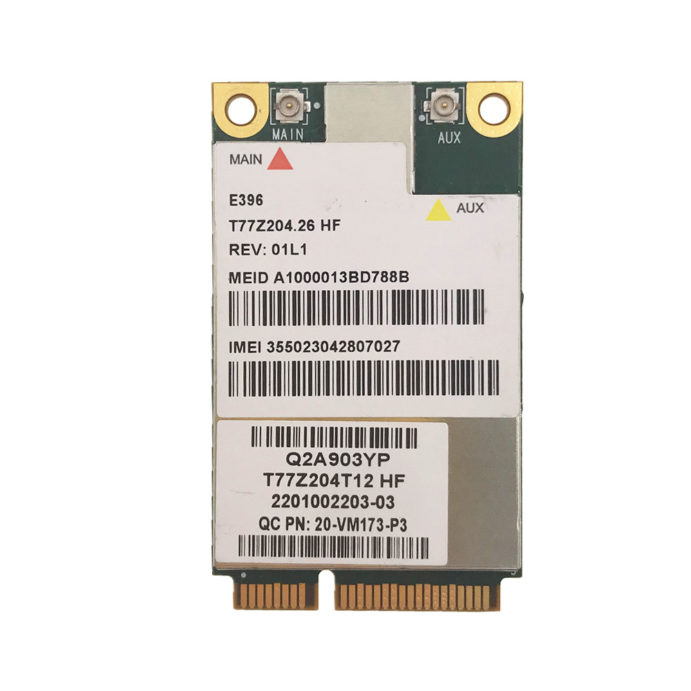 E396 Wireless 3G WWAN Broadband Mini PCIe HSPA +/EV-DO EDGE WCDMA Wireless Modul Card Gobi3000 FOR Dell DW5630 5323 2120 M4600
