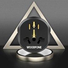 Woodfone 16a ue adaptador universal eua reino unido au cn para ue plug adaptador europa conversor de viagem em casa carregador de parede adaptador de tomada de energia