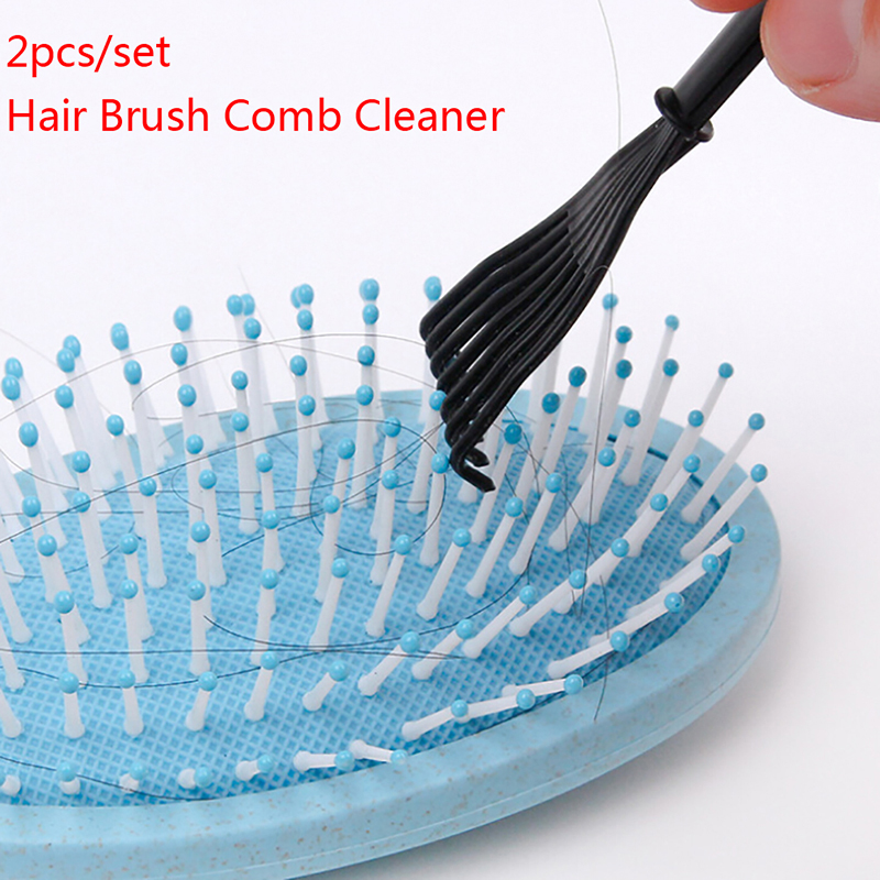 2Pcs/set Plastic Cleaning Removable Handle Cleaner Tool Hair Brush Comb Cleaner Household Cleaning Tool Drop Shipping