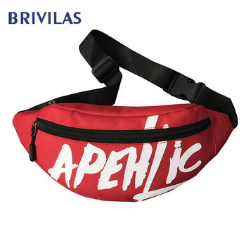 Brivilas Women Waist Bag Letter Fanny Packs Hip Hop Belt Bag Harajuku Shoulder Banana Bag Purses Streetwear Sports Chest Bag New