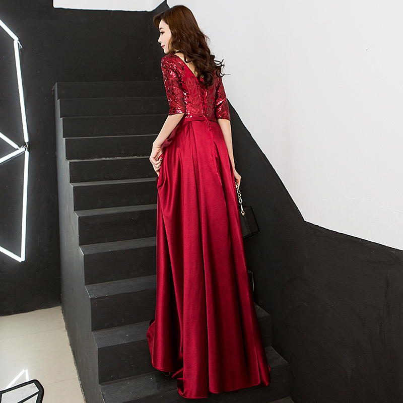 Image 3 - New Arrival 5 Colors Evening Dresses Beauty Emily Elegant V Neck 