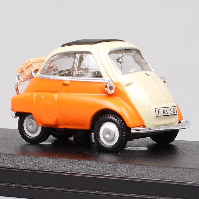 Cararama mini clássicos bonitos 1/43 escala isetta 250 microcar bolha carro diecast veículos modelo para presentes do bebê meninos miniaturas 1955