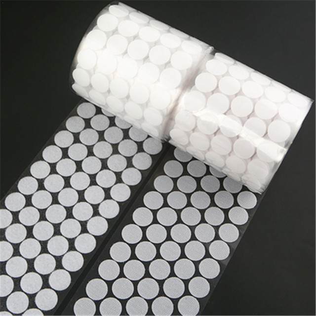 10/15/20/25mm White Black Strong Glue Hooks and Loops Self Adhesive Sticker Velcros Waterproof Adhesive Fastener Tape Home Use