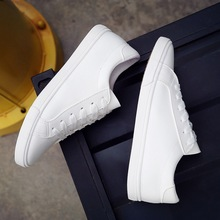 Casual white shoes woman 2019 solid lace-up sneakers women