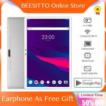 Neueste 10,1 zoll Tablet PC Deca Core Dual SIM 4G Telefon 6GB + 128GB 5G Wifi bluetooth 1920X1200 IPS Screen Android планшет tablette