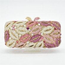 Skull Clutch Diamond Evening-Clutch-Bags Ladies Handbags Crystal Women Fashion Metal