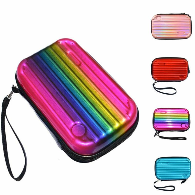 Women Laser Clutch Tote Evening Prom Wedding Messenger Handbag Mini Suitcase