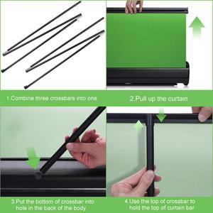 Image 5 - خلفية كروما قابلة للطي مقاس 110 × 200 سنتيمتر ، خلفية خضراء مقاومة للتجاعيد للتصوير الفوتوغرافي والفيديو ويوتيوب