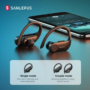 Image 4 - SANLEPUS B1 TWS kablosuz kulaklık Bluetooth kulaklık Stereo kulaklık spor egzersiz için kulaklık Xiaomi Huawei Android Apple