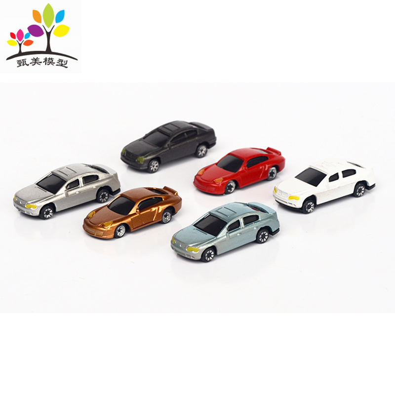 10 Pieces/lot Random Mixed Color 1:100 Painted Model Cars Building Layout HO Scale Model Building Toy Cars
