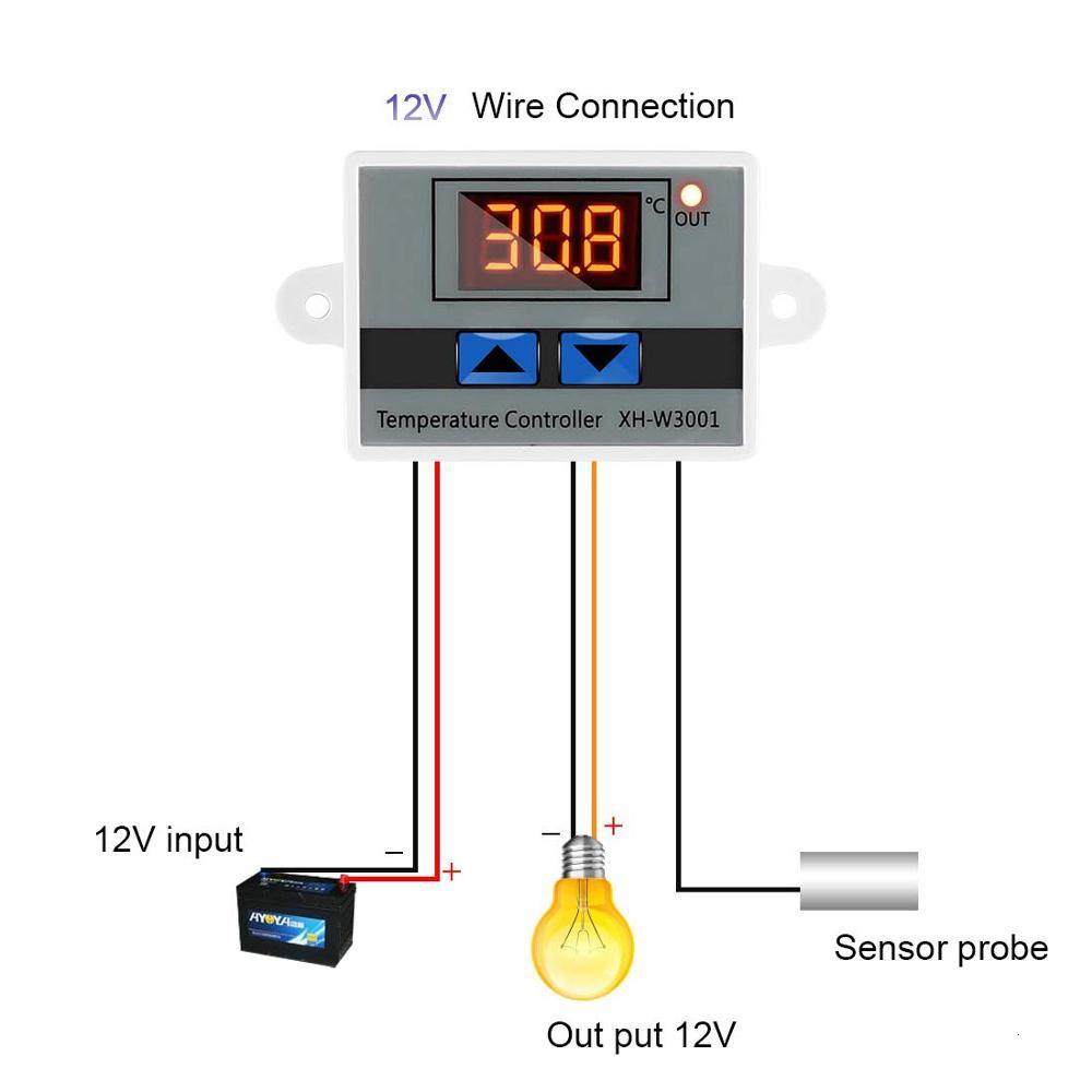 <font><b>XH</b></font>-<font><b>W3001</b></font> <font><b>W3001</b></font> Digital Temperature Controller LED AC 220 V Temperature Interruptor Thermo Controller Probe Max 10A NTC10K image