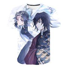 цена на 2020 new summer Boy Fashion Tops Street hip-hop tee anime print half-sleeve crewneck body shirt original  Short sleeve t shirt