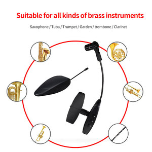 Image 4 - Stage Saxophone Brass Instrument Sensitive Wireless Microphone Professional Performance Portable With Converter UHF Transmission