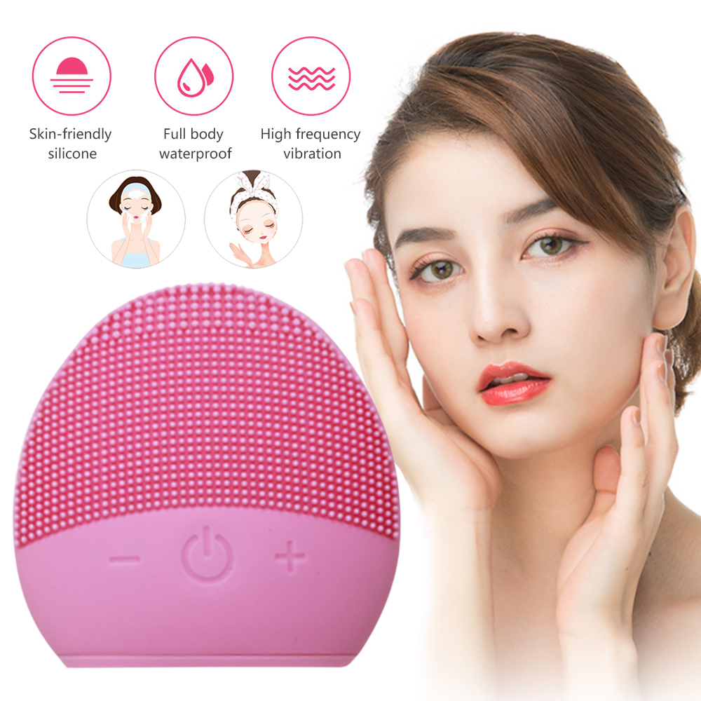 Electric Face Brush Waterproof Silicone Facial Cleansing Brush Face Deep Cleansing Brush High Frequency Professional